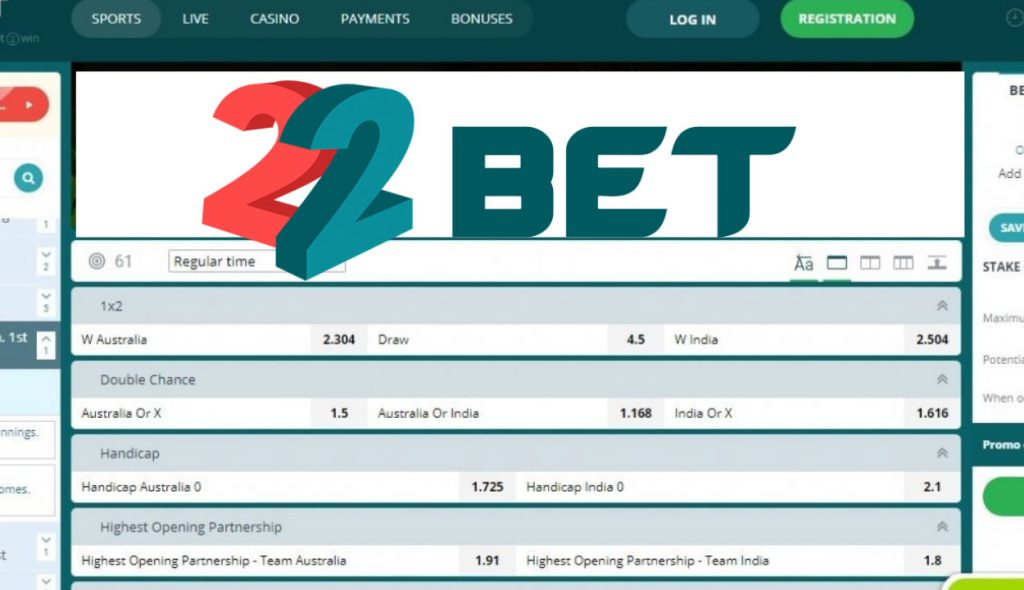 22bet is a betting site