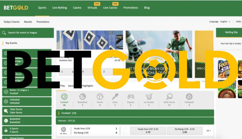 Betgold Betting is a bookmaker