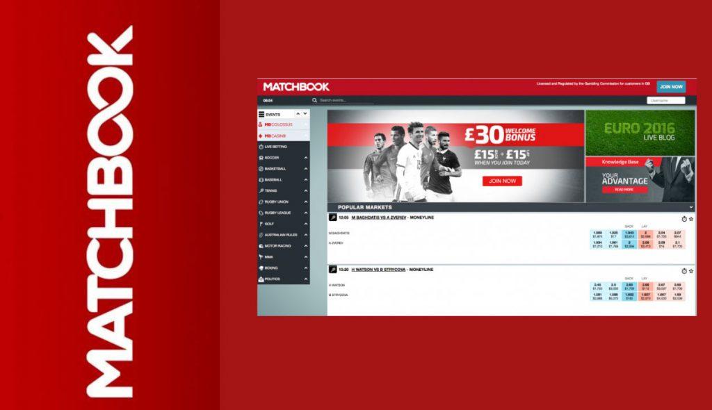 Matchbook betting exchange platform